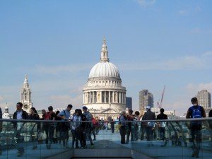 St.Paul's Cathedral from the South Bank of the Millennium Bridge