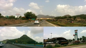 The excellent six-land Mumbai-Pune Expressway. Minimal honking, can you believe that?!