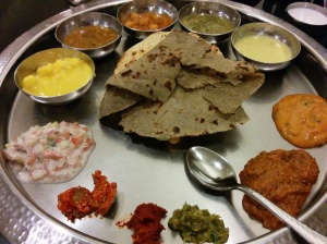 Tracked down a Maharashtrian meal at last!