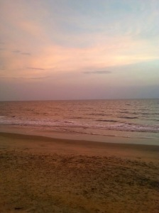 Sunset, hues, Cherai Beach