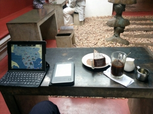 Kashi Art Cafe - the refreshing respite from Fort Kochi's dusty streets and old tourist town.