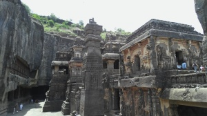 Ellora Caves - The Kailasnath Temple. Just imagine - one stone, just faith.