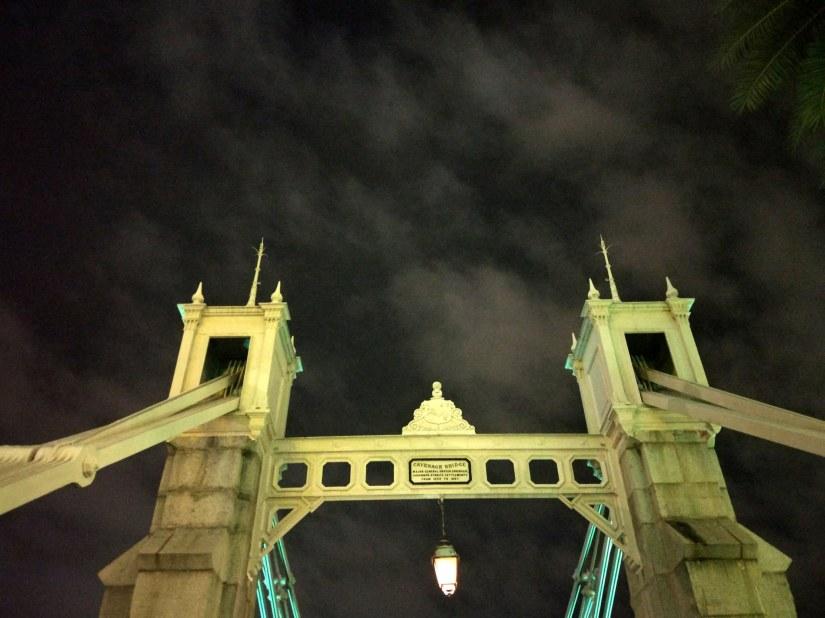 New Year's Eve - en route to Merlion Park, , Cavenagh Bridge
