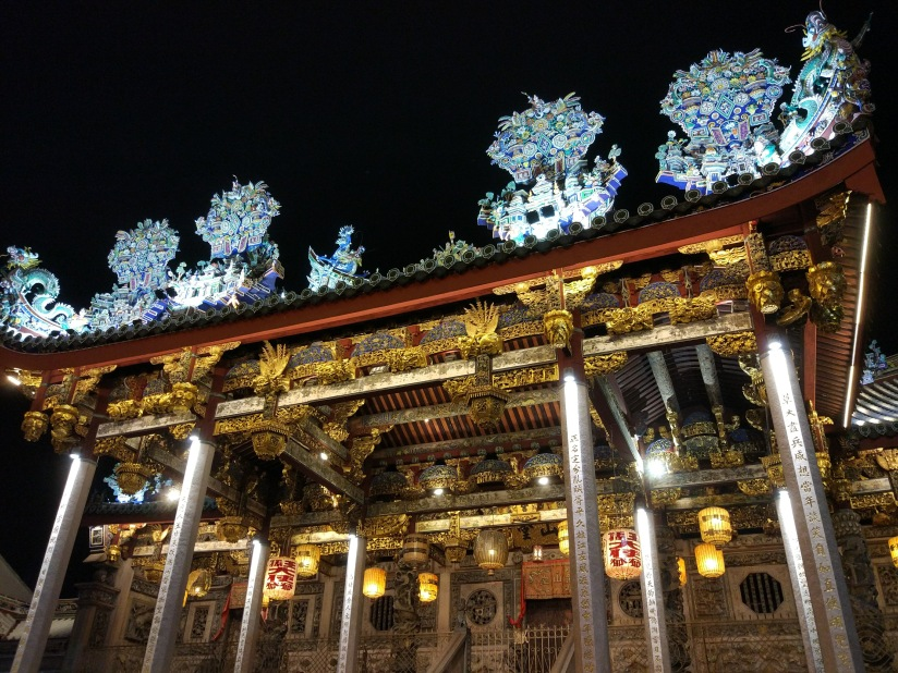 Khoo Kongsi, a Chine clan house all lit up